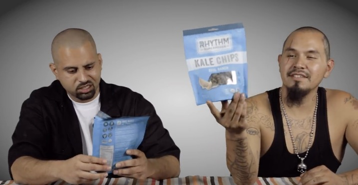 Lol: Cholos Try Vegan Food (Kale Chips + Kombucha) | Video