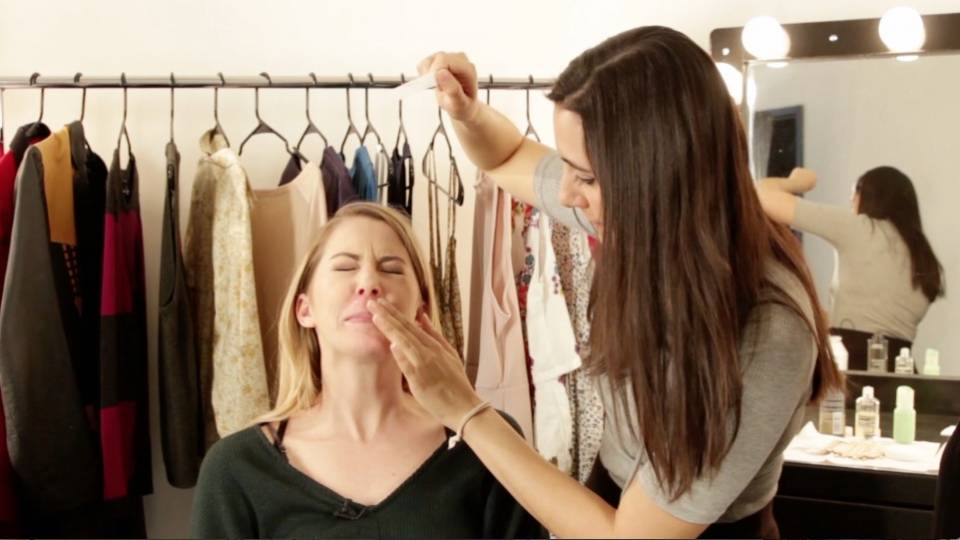 Women Wax Each Other\u002639;s Mustache Hair  RTM  RightThisMinute