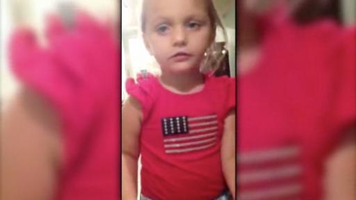 Adorable Little Girl Shows Her Patriotic Side