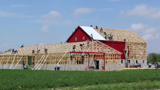 Time-Lapse of Amish Barn Raising Is Actually Really Cool!