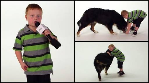 Apparently Kid's First Commercial Involves Dogs - What Could Be Better?