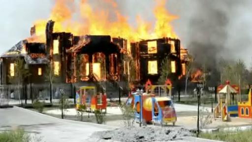 Artillery Fire Destroys Playground and Church in Ukraine
