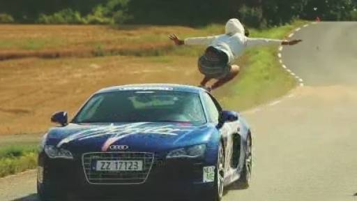 Guy Jumps Audi Going 95 MPH