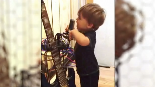 Baby Sings His ABC's Heavy Metal Style!