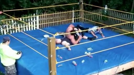 Epic Backyard Wrestling Match Ends With Some Drama