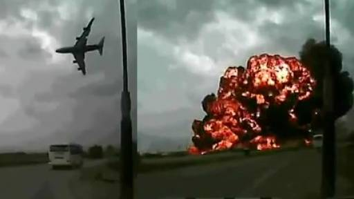 Video of U.S. Cargo Aircraft's Fiery Crash in Kabul Emerges