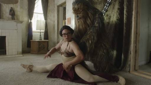 Princess Leia Ditches Han for Chewie in 'Chandelier' Parody