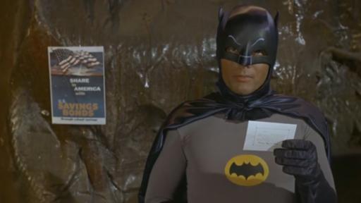 Batman Urges Children to Buy Stamps to Help the War Effort
