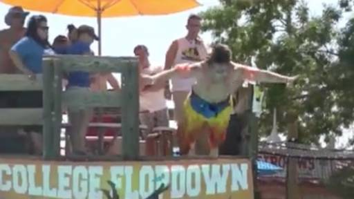 Splat! Water World's 16th Annual 'College Flopdown'