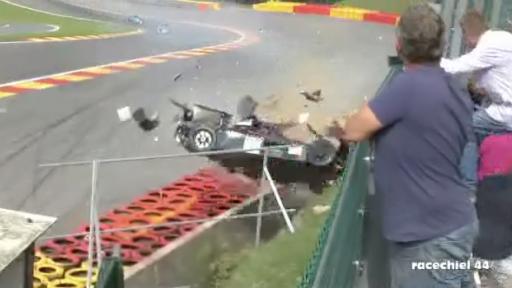 Big Crash During High-Speed Race