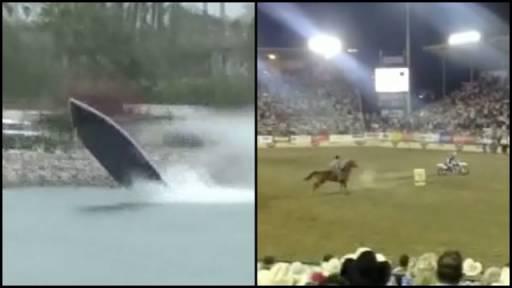 Boat Race Crash & Dirt Bike vs. Horse