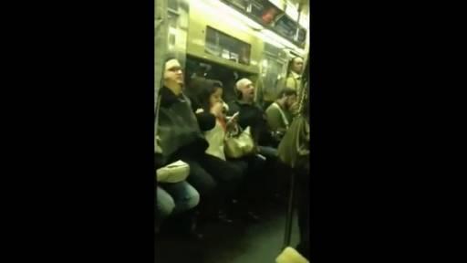 Bohemian Rhapsody Performance on NYC Train