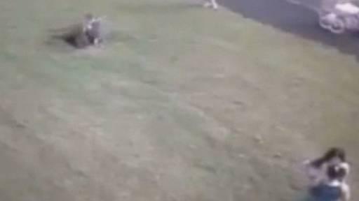 Little Boy Falls into a Manhole