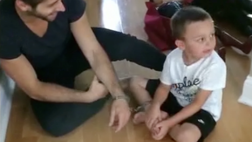 Boy Hilariously Handcuffs Uncle to Prevent Him from Leaving