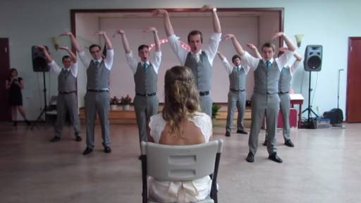 Bride Gets Awesome Groomsmen Dance Surprise