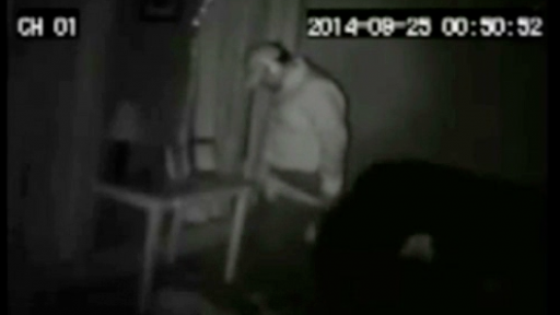 'Perverted' Burglar Is Caught on Camera...But Could It All Be a Prank?