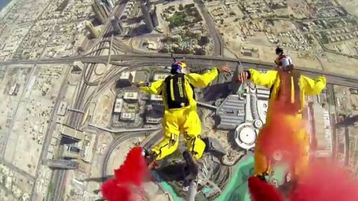 World Record BASE Jump Off of Burj Khalifa in Dubai