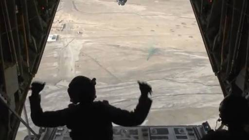 Airdrop Over Afghanistan