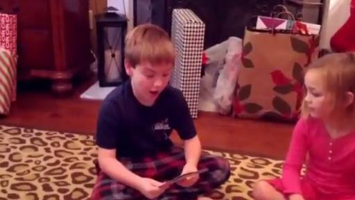 Little Boy Stunned After Getting Exactly What He Wanted for Christmas
