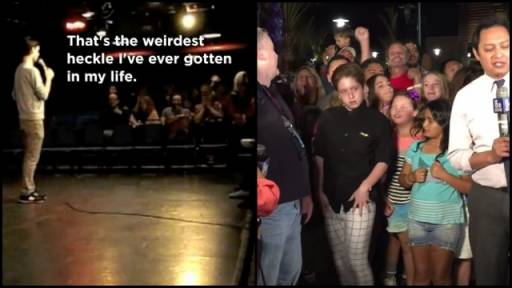 Comedian Heckled By NYPD & Dancing Kid Owns the Spotlight
