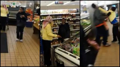 Mother-Son Battle in Grocery Store Is Actually a Prank!