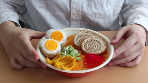 Crocheted Ramen Looks Delicious Enough to Eat