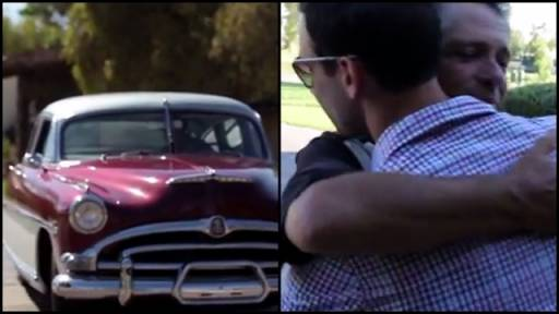Son Surprises Dad With His Dream Car