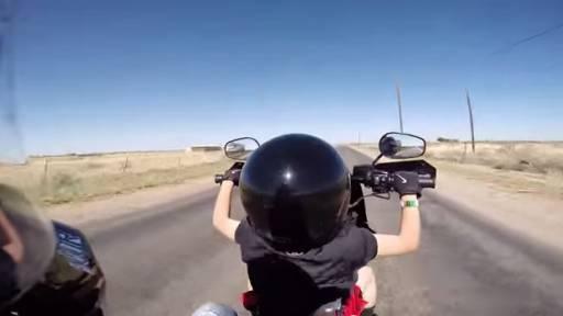 Dad Lets 6-Year-Old Steer Harley