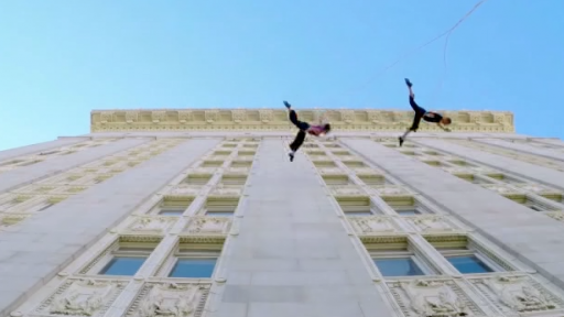 Dancers Perform Gravity-Defying Choreography