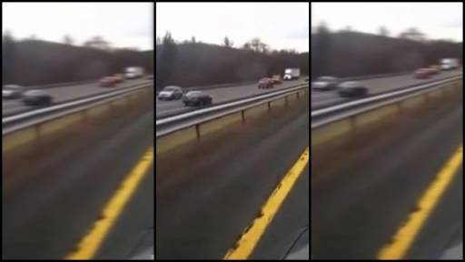 Confused Driver Nearly Misses Multiple Head-On Collisions