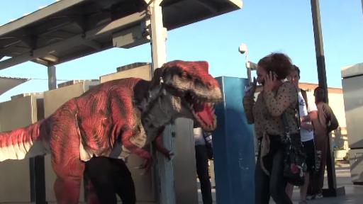 Dinosaur Prank That's 'Straight Outta Compton'