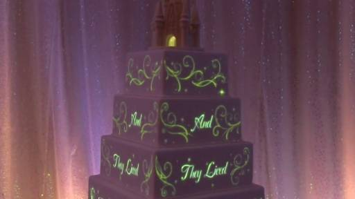 Tell Your Own Fairy Tale With a Disney Projection Mapping Wedding Cake
