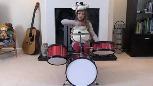 Now This Drummer Girl Literally Rocks