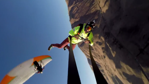 An Extremely Epic Paragliding Rope Swinging BASE Jump!