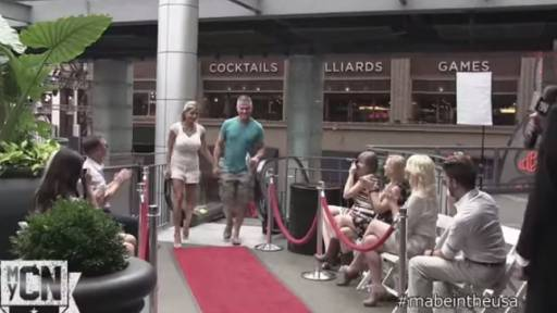 Tom Mabe Hosts Impromptu Escalator 'Fashion Show'