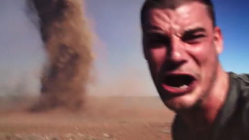 The Selfie Might Be Real, But the Dust Devil Is a Different Story