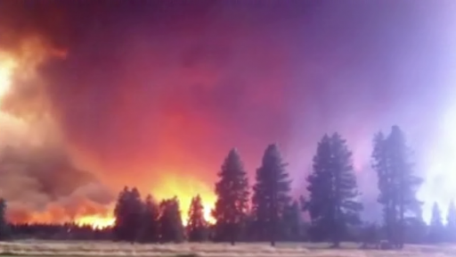Fiery Tornado Occurs Amongst the Wildfires in Northern California