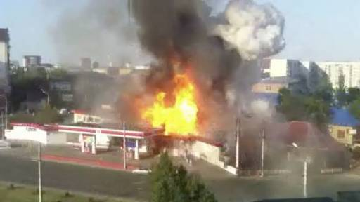 Gas Station Explodes, Causing Serious Injuries