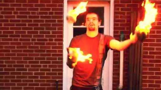 Dude, Film Me While I Burn Myself Juggling Fireballs!