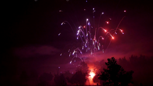 Firework Mishap Causes Colorful Explosion