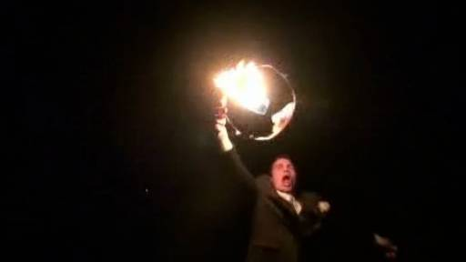 Couple's Floating Lantern Fails and Falls to the Ground