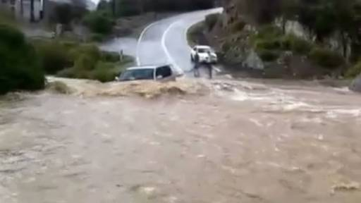 Severe Flooding in Saudi Arabia Swallows SUV