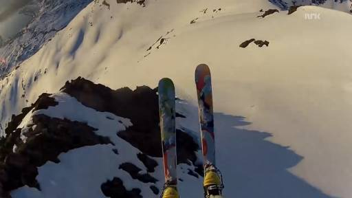 Flying and Skiing on the Slopes of Norway