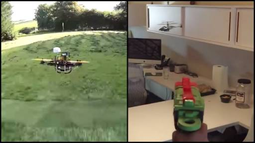 Is There Anything Better Than Flying Drones or Shooting Down Toy Helicopters?