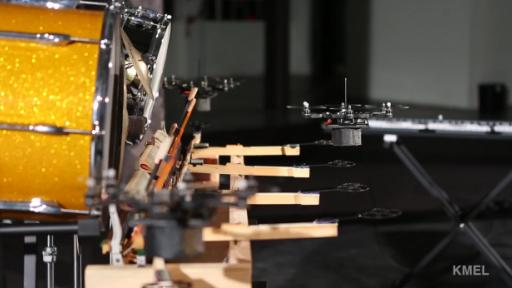 Flying Robots Make Beautiful Music