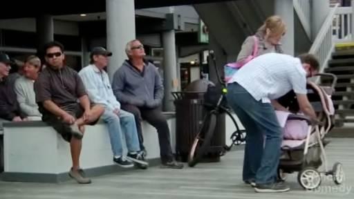 Folding a Baby in a Stroller Prank