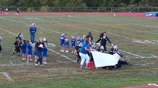 Pee Wee Football Team's Adorably Funny Celebration Fail