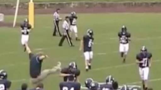 Coach Fails During Game-Winning Touchdown Celebration
