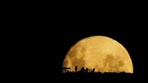 Beautiful Full Moon Rising