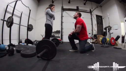 Furious Pete Surprises Girlfriend With a Wonderful Workout Proposal
